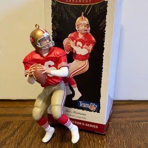 Hallmark Joe Montana football legends ornament